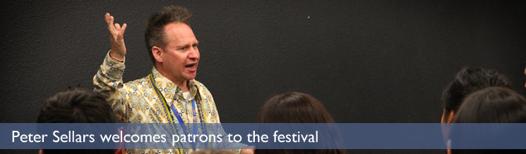 Peter Sellars welcomes patrons to the festival