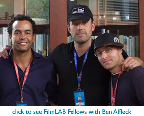 Actor/Director Ben Affleck with FilmLAB Fellows