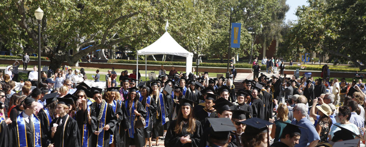 Students at the 2013 UCLA TFT Commencement Ceremony